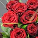 12 langstielige rote Rosen - Strauss