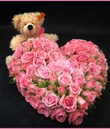Herz mit Teddy